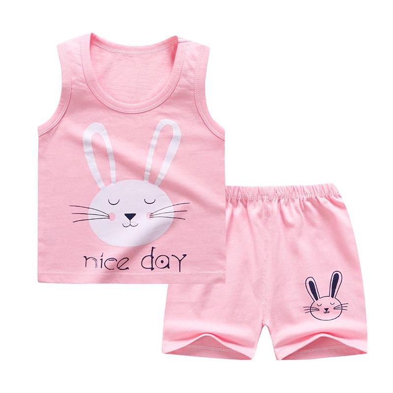 Baby Toddler Summer Vest Shorts suit cartoon Rabbit