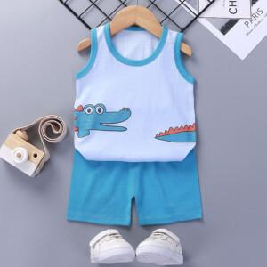Baby Toddler Summer Vest Shorts Suit Cartoon Crocodile