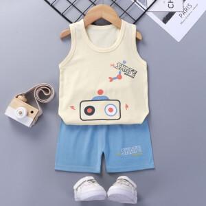 Baby Toddler Summer Vest Shorts Suit Cartoon Radio