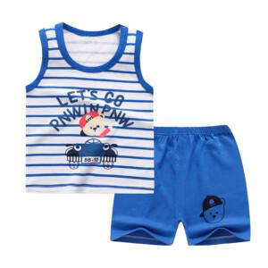 Baby Toddler Summer Vest Shorts Suit Cartoon Little Bear