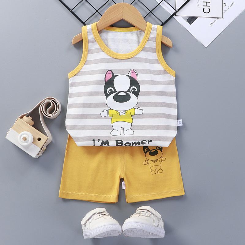 Baby Toddler Summer Vest Shorts Suit Cartoon Dog