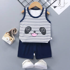 Baby Toddler Summer Vest Shorts Suit Cartoon Panda