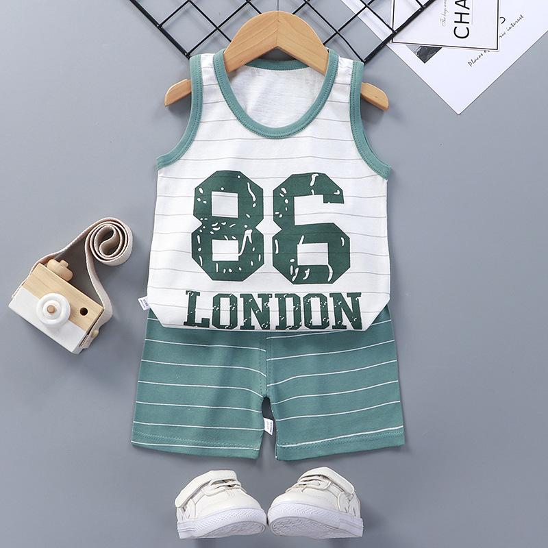 Baby Toddler Summer Vest Shorts Suit Cartoon NO.86