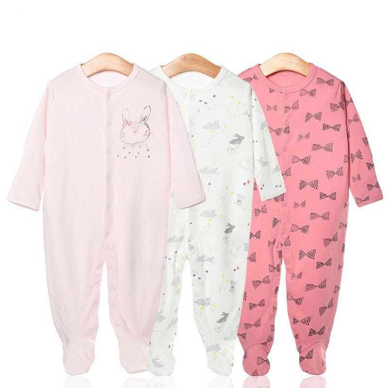 3 Pieces Newborn Baby Jumpsuits Cotton Clothes Color Rabbit