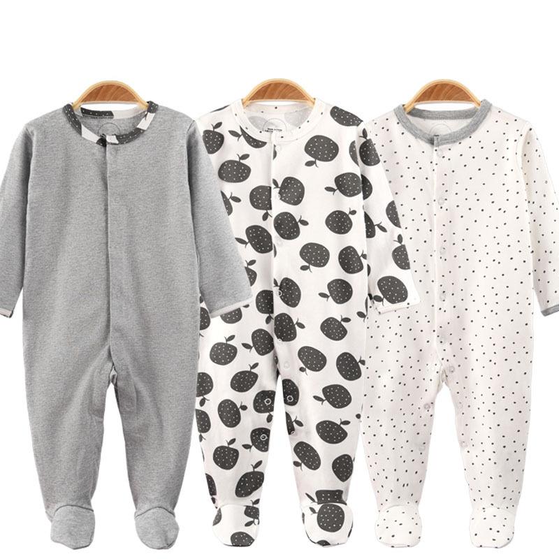 3 Pieces Newborn Baby Jumpsuits Cotton Clothes Fruit