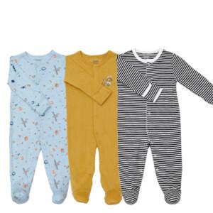 3 Pieces Newborn Baby Jumpsuits Cotton Clothes Little Bear