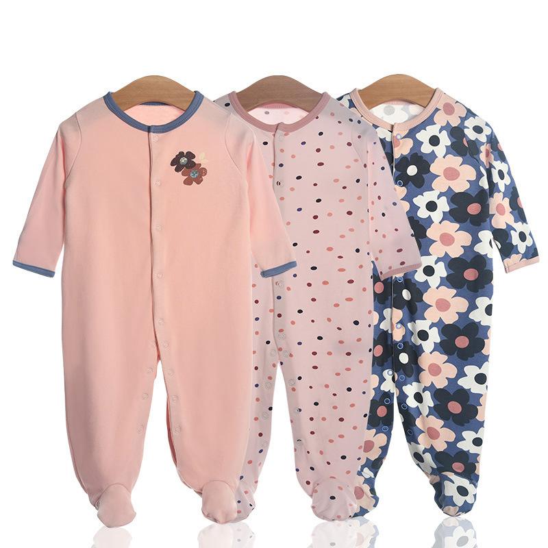 3 Pieces Newborn Baby Jumpsuits Cotton Clothes Dinosaur