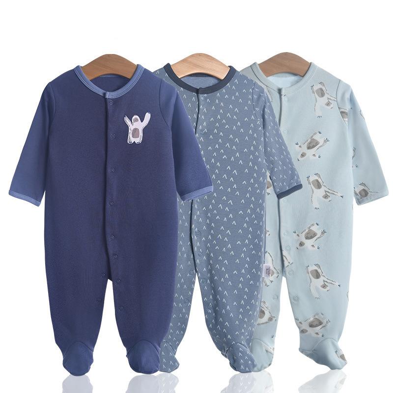 3 Pieces Newborn Baby Jumpsuits Cotton Clothes Orangutan