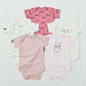 5 Pieces Newborn Baby Jumpsuits Cotton Clothes Rabbit